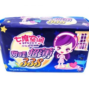 七度空间超薄纯棉夜用卫生巾338mm8片(夜用)