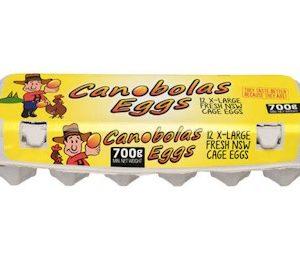 FREE RANGE EGGS CANOBOLAS EGGS 700G 12P走地鸡蛋700g 12P