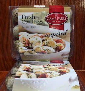FRESH QUAIL EGGS 130g 12PX2BOXES GAME FARM 新鲜鹌鹑蛋130G 12PX2盒实惠