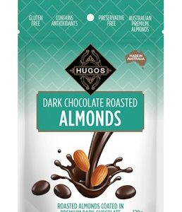 HUGOS DARK CHOCOLATE ROASTED ALMOND 120G 杏仁黑巧克力