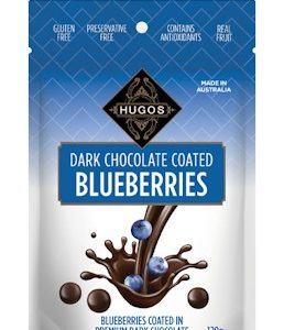 HUGOS DARK CHOCOLATE COATED BLUEBERRIES 120G 香浓蓝莓黑巧克力
