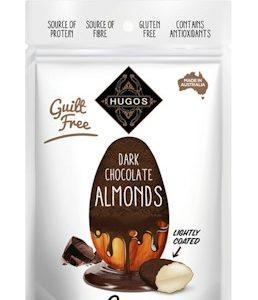 HUGOS DARK CHOCOLATE COATED ALMOND 120G 香浓黑巧克力杏仁脆