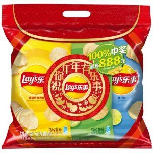 乐事薯片超值分享装(原味+青瓜+青柠)70gx3P/CHIPS 70G*3