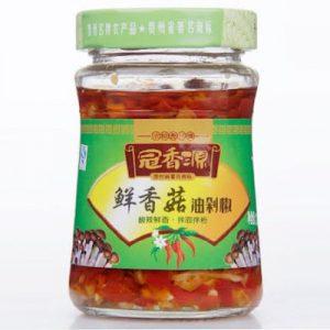 冠香源/鲜香菇油剁椒 220G/GXY/MUSHROOM CHILLI SAUCE 220G