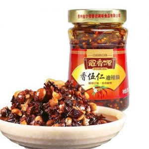 冠香源/五仁红油辣椒 220G/GXY/CHILLI SAUCE WTH NUTS 220G
