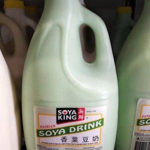 SOYA KING香叶豆奶(黄盖绿瓶)2L/SOYA KING  SOYA MILK PANDAN FLAVOR 2L