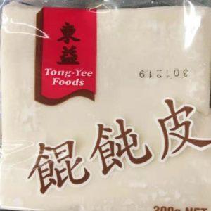 IN-东益馄饨皮 42PCS 300G/TONG YEE HUN TUN PASTRY 300G