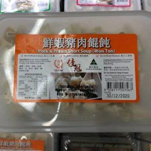 J-佳冠/鮮蝦猪肉馄饨 225G/SC/PORK PRAWN WONTON 225G
