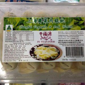 A-福源/上海荠菜肉馄饨 220G/FY/VEGETABLE & PORK WONTON 220G