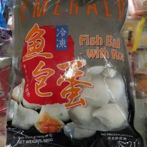 台湾鱼包蛋 500G/EMERALO TAIWAN FISH BALL ROE 500G