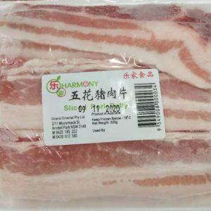 AM-乐家五花猪肉片 225G/HARMONY SLICED PORK BELLY 250G