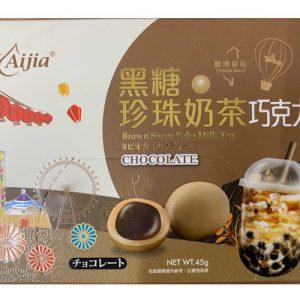 愛加/黑糖珍珠奶茶巧克力 45G/AIJIA/BOBA CHOCOLATE 45G