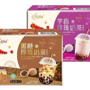 愛加/芋香珍珠奶茶巧克力 45G/AIJIA/TARO BOBA CHOCOLATE 45G