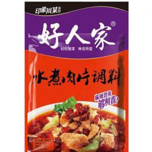 好人家/水煮肉片调料 100GHRJ/BOILED PORK IN SPICY SAUCE SEASONING 100G