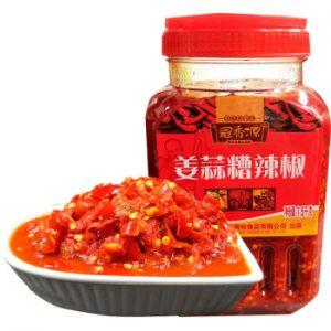 冠香源姜蒜糟辣椒大瓶装1.5KG/GuangXiangYuan Ginger&Garlic Mixed Chill 1.5KG