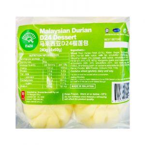 Eazii马来西亚D24榴莲包4个入240g/Eazii Malaysian Durian D24 Dessert 4pcs 240g