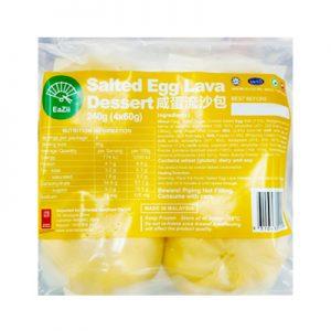 Eazii咸蛋黄流沙包4个入240g/Eazii Salted Egg Lava Dessert 4pcs 240g