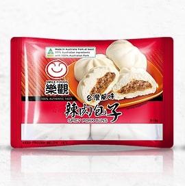 乐观辣肉包子4个入310g/LG Spicy Pork Bun 4pcs 310g