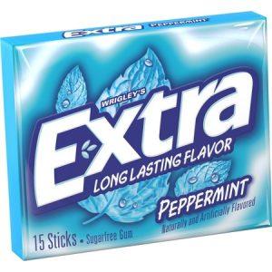 Extra薄荷清凉口香糖15片入100g/Extra Peppermint Gum 15pcs 100g