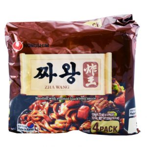 韩国Nongshim农辛炸王炸酱面4包装536g/Nongshim ZhaWang Noodles With Roasted Blackbean Sauce 4pk 536g