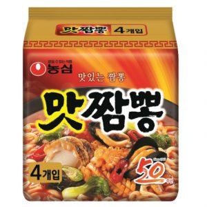 韩国Nongshim农辛炒码王海鲜汤面4包入520g/Nongshim Champong Noodle Soup Spicy Seafood Flavor 4pk 520g