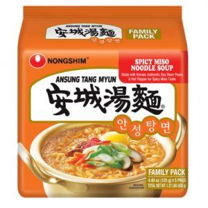 韩国Nongshim农辛安城汤面5包装600g/Nongshim Ansung Tang Myun Noodle Soup 5pk 600g