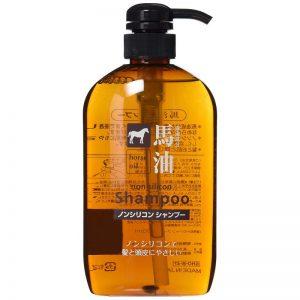 日本熊野油脂无硅天然弱酸性马油洗发水600ml/Horse Oil Shampoo 600ml