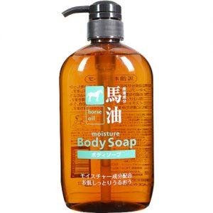 日本熊野油脂无硅天然弱酸性马油沐浴液600ml/Horse Oil Body Wash 600ml
