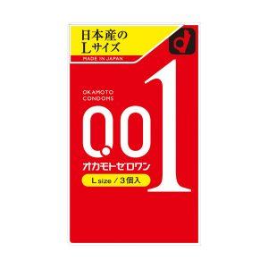 OKAMOTO 冈本 001系列 超薄安全避孕套 L码 3个入/OKAMOTO 001 Condoms Lsize 3pcs