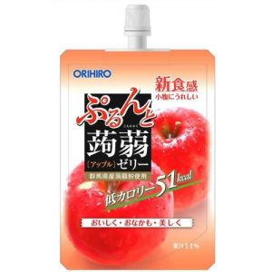 日本ORIHIRO低卡纤体蒟蒻果冻苹果味130g/ORIHIRO Kommyaku Jelly Apple Flavor 130g