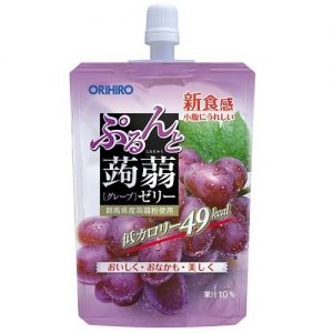 日本ORIHIRO低卡纤体蒟蒻果冻葡萄味130g/ORIHIRO Kommyaku Jelly Grape Flavor 130g
