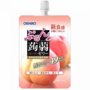 日本ORIHIRO低卡纤体蒟蒻果冻水蜜桃味130g/ORIHIRO Kommyaku Jelly Peach Flavor 130g