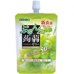 日本ORIHIRO低卡纤体蒟蒻果冻青葡萄味130g/ORIHIRO Kommyaku Jelly Green Grape Flavor 130g