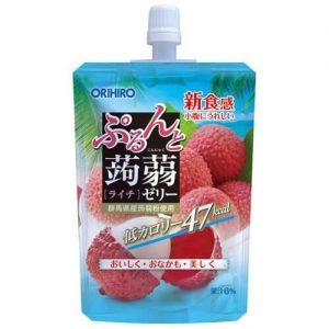 日本ORIHIRO 低卡纤体蒟蒻果冻 荔枝味 130g/ORIHIRO Kommyaku Jelly Lychi Flavor 130g