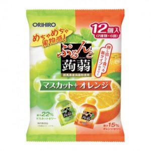 日本ORIHIRO纤体蒟蒻果冻菠萝&橙子味240g/ORIHIRO Kommyaku Jelly Pineapple&Orange Flavor 240g