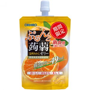 日本ORIHIRO低卡纤体蒟蒻果冻橘子味130g/ORIHIRO Kommyaku Jelly Orange Flavor 130g