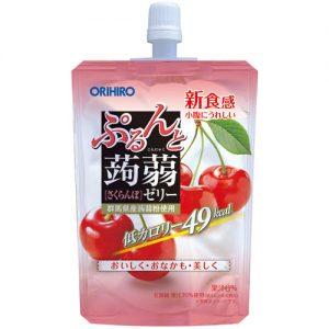 日本ORIHIRO低卡纤体蒟蒻果冻樱桃味130g/ORIHIRO Kommyaku Jelly Cherry Flavor 130g