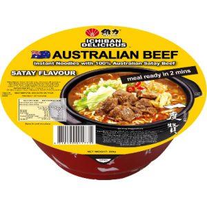 一度赞澳洲沙爹牛肉面200g/ICHIBAN Instant Noodles With Real Ausralian Satay Beef 200g