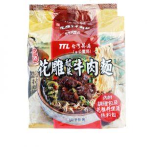 台湾TTL花雕酸菜牛肉面3袋入/TTL Beef With Pickled Vegetable Noodles 3pk