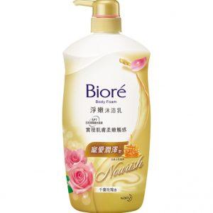 Biore净嫩沐浴乳宠爱润泽型千叶玫瑰香1L/Biore Body Foam Rose Flavor1L
