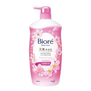 Biore净嫩沐浴乳浪漫保湿型京都樱花香1L/Biore Body Foam Blossoms Flavor 1L