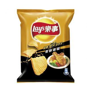 乐事香酥鸡腿波浪厚切洋芋片薯片43g/Lays Crispy Chicken Leg Flavor Potato Chips 43g