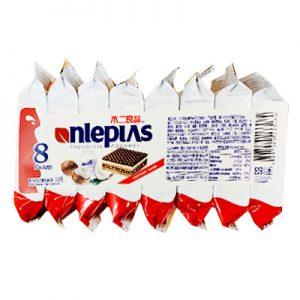 不二良品椰子味巧克力威化饼干8个装168g/Nlepias Chocolate Coconut 8pk 168g