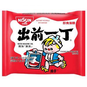 日本Nissin日清出前一丁麻油味拉面方便面单包装100g/Nissin Instant Noodles With Sesame Oil 100g