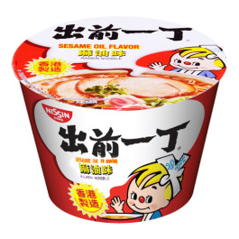 日清Nissin出前一丁麻油味方便面碗面110g/Nissin Sesame Oil Flavour Noodle Bowl 110g