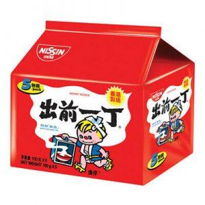 日本Nissin日清出前一丁麻油味拉面方便面5连包500g/Nissin Instant Noodles With Sesame Oil 5pk 500g