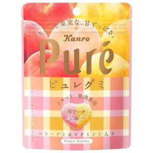 日本Kanro Pure期间限定樱花白桃心形软糖56g/Kanro Pure Pure W Peach Gummy 56g