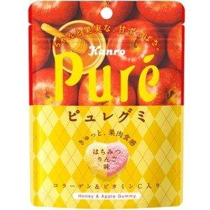 日本Kanro Pure期间限定樱花蜂蜜苹果心形软糖56g/Kanro Pure Pure Honey Apple Gummy 56g