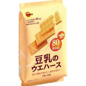 日本Bourbon网红豆乳威化饼干16枚装130g/Bourbon Soy Milk Wafera 16pcs 130g