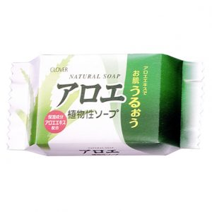 日本CLOVER植物性芦荟保湿香皂80g/CLOVER Natural Soap Aloe 80g